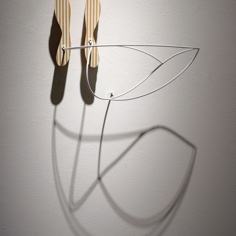Dean DeCocker - Navigational Markers, 2012, acrylic paint, metal, powder coat and wood, 26 x 24 x 14 inches