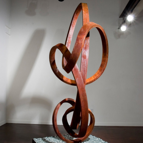 Roger Berry - <b>Mozart</b>, 2004, corten steel, 96 x 42 x 32 inches