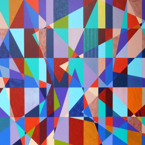 Mark Emerson - <b>Please Forgive Tangent</b>, 2012, polymer on canvas, 40 x 50 inches