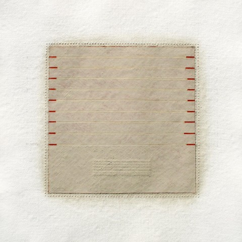 Eleanor Wood - <b>Realignments Series #2</b>, 2014, watercolor, waxed paper and oil on cotton paper, 22.5 x 22.5 inches