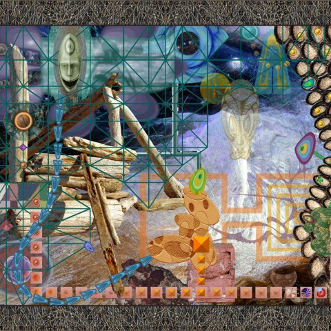 David Wetzl - <b>SCIP is Viewing Internal Modernist Aliens</b>, 2012, digital print on paper, 23 x 29 inches