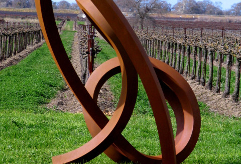 Roger Berry - Seiche, 2008, corten steel, 112 x 84 x 61 inches
