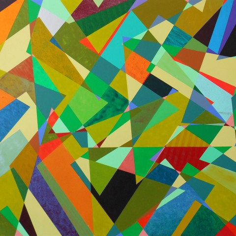 Mark Emerson - <b>So What</b>, 2012, polymer on canvas, 40 x 50 inches