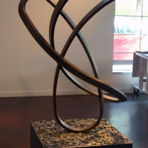 Roger Berry - <b>Stasis</b>, 2010, silicon bronze, 32 x 50 x 37 inches