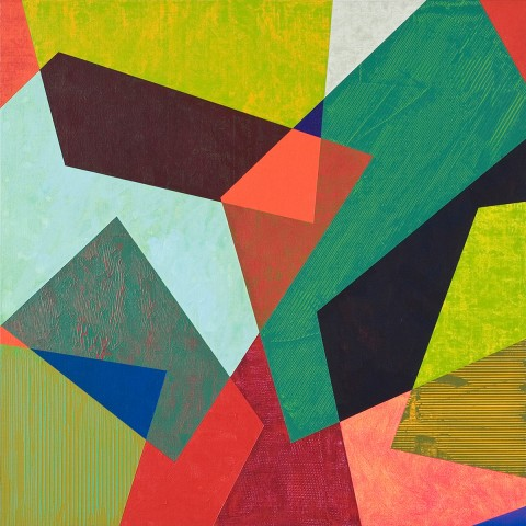 Mark Emerson - <b>Color Blind</b>, 2011, polymer on linen, 24 x 24 inches