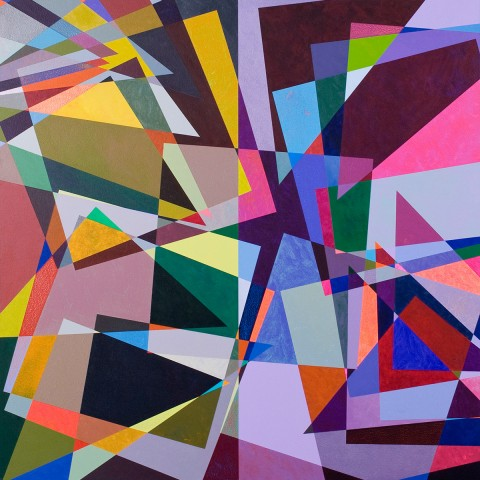 Mark Emerson - <b>Yeah, No, Yeah</b>, 2010, polymer on canvas, 60 x 60 inches