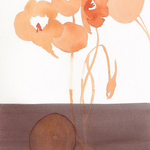 Stacey Vetter - <b>Nasturtium</b>, watercolor on paper, 10 x 8 inches