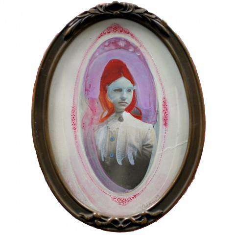 Galelyn Williams - Twin, 2009, mixed media, 7.75 x 5.75 inches