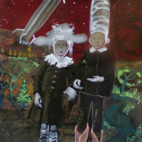Galelyn Williams - <b>Hansel and Gretel</b>, 2009, mixed media, 10 x 8.75 inches