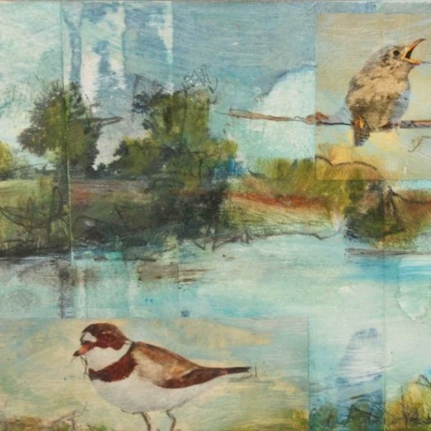 S.R. Jones - <b>Sweetwater</b>, mixed media on panel, 9.75 x 4.75 inches