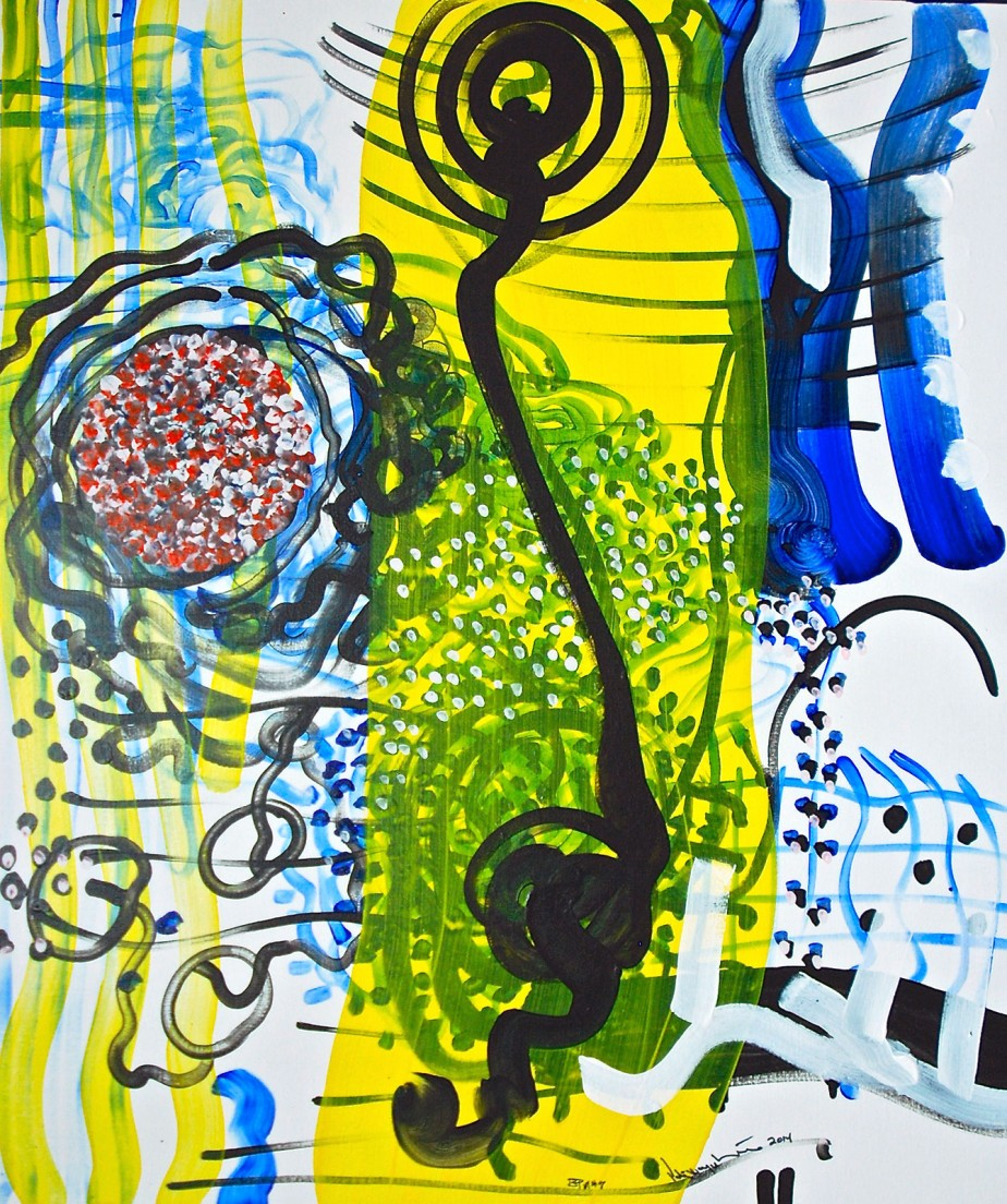 PeterWayneLewis-BUDDHA-PLAYS-MONK#7-2014-H42__x36__ac-linen_0049_sm