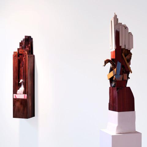 Trent Burkett - <b>AD Duck and Material Study #1</b>, 2015, installation