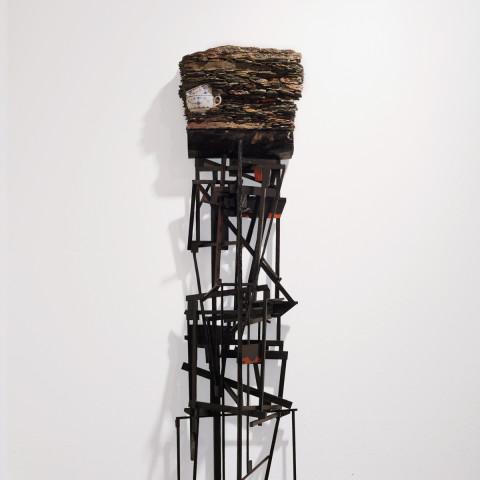 Trent Burkett - <b>Material Study #10</b>, 2015, Misc. materials, 56 x 16 x 19 inches