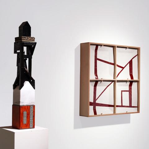 Trent Burkett - <b>Material Study #4 and Cabinet #2</b>, 2015, installation
